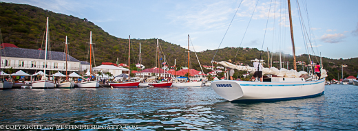 Exodus arrives in St.Barths to join her sisters - island sloops unite