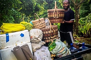 Collect produce in Dominica
